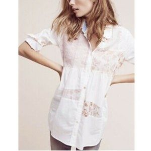 Anthropologie Maeve Patchwork Button Up Tunic